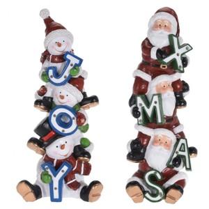 LED-Figur Weihnachtsmann oder Schneemann mit 9 LED