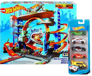 Hot Wheels Megacity Parkgarage + 5er Geschenkset