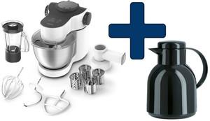 Krups Küchenmaschine KA2531 Master Perfect Plus incl. Isolierkanne Samba (emsa, schwarz-glänzend), Farbe Weiß