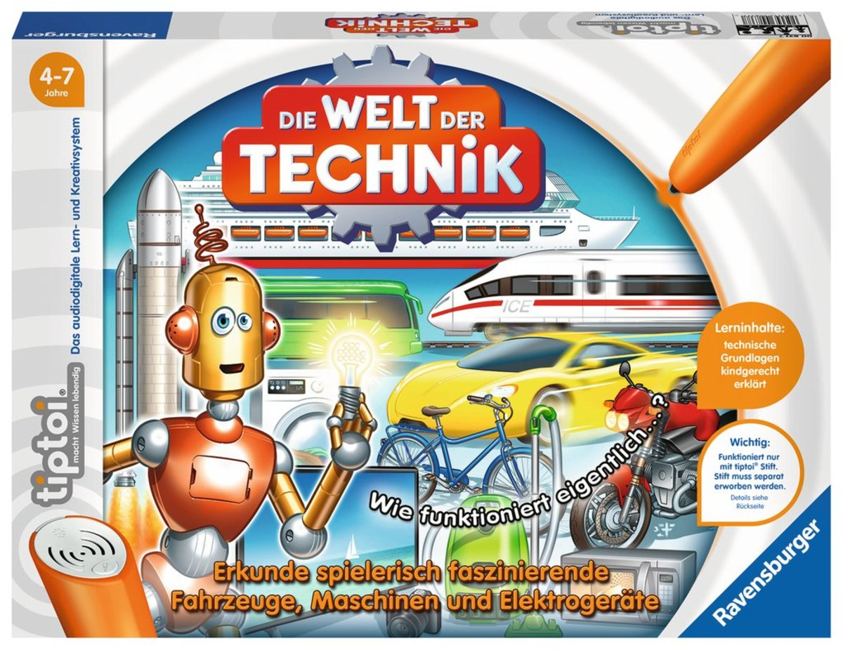 Bild 1 von Ravensburger tiptoi Lernspiel Die Welt der Technik 00837