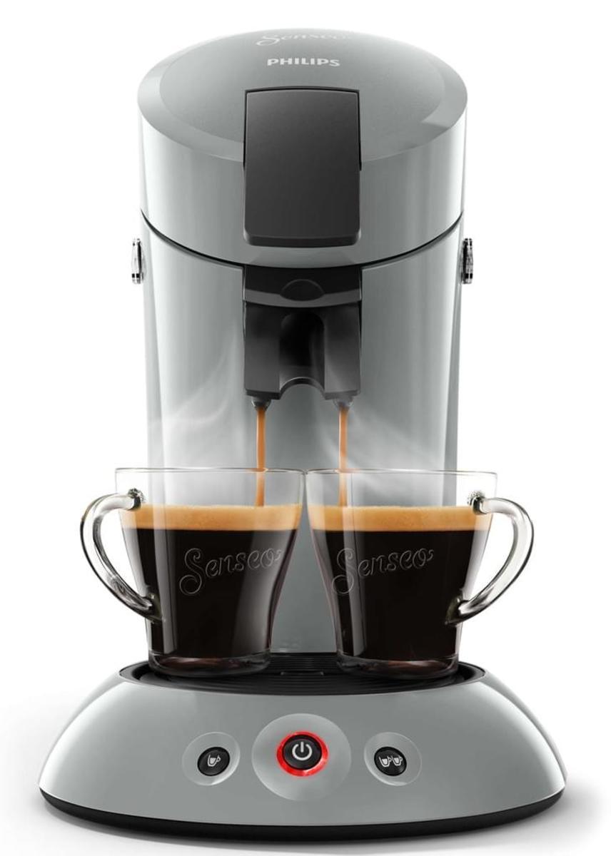 Bild 2 von Philips Senseo Kaffeepadmaschine HD 6553/XX Original, Farbe Hellgrau