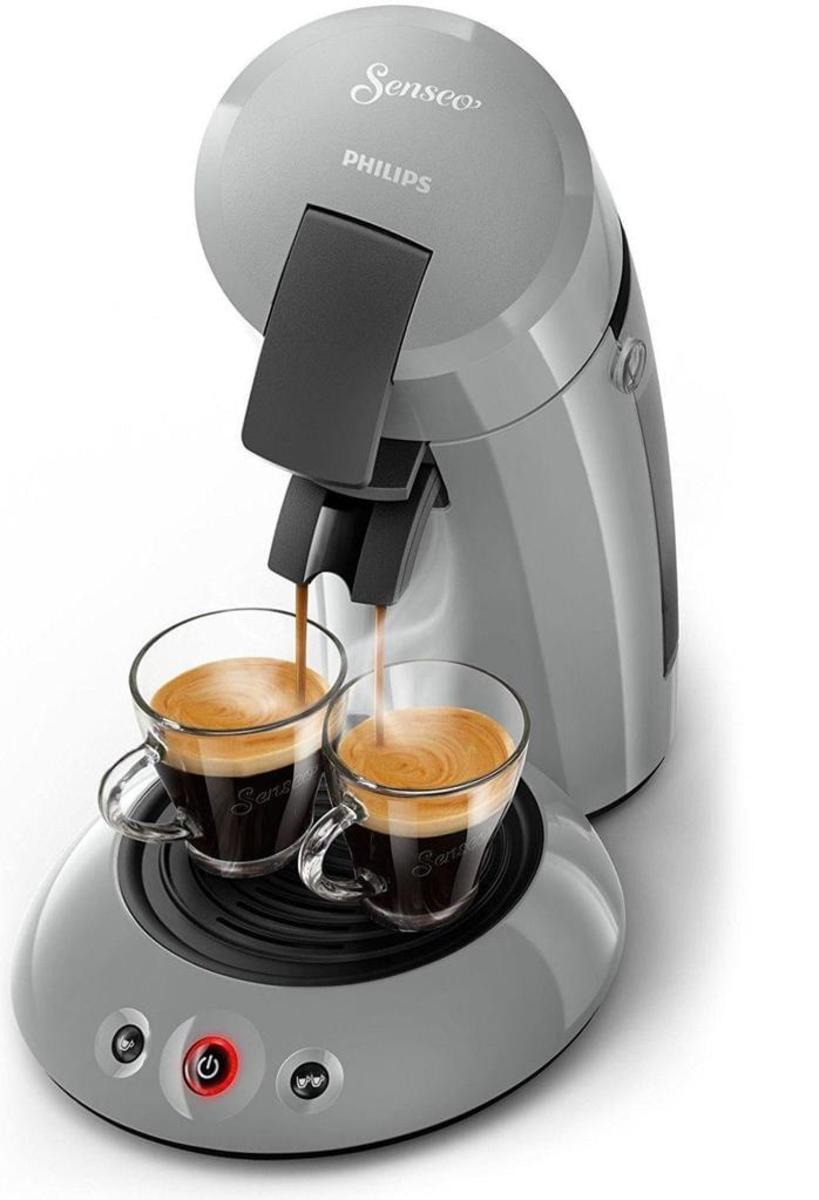 Bild 3 von Philips Senseo Kaffeepadmaschine HD 6553/XX Original, Farbe Hellgrau