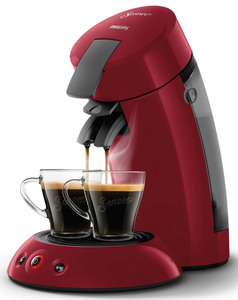 Philips Senseo Kaffeepadmaschine HD 6553/80 Original, Farbe Rot