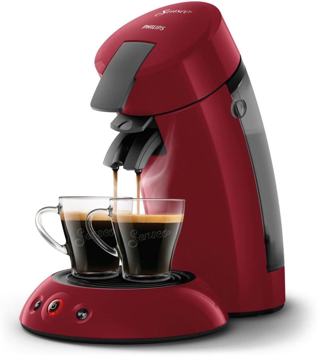 Bild 4 von Philips Senseo Kaffeepadmaschine HD 6553/80 Original, Farbe Rot