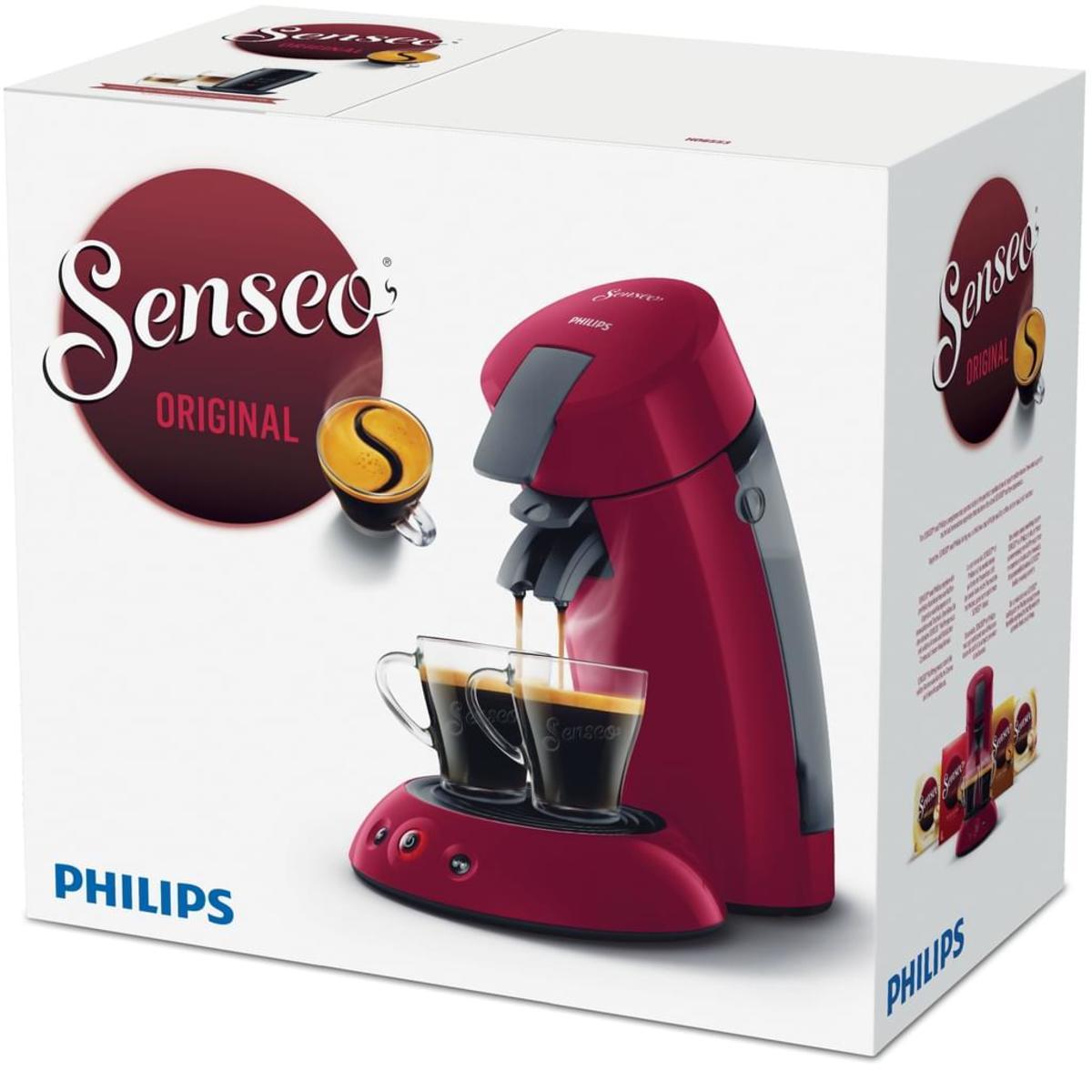 Bild 5 von Philips Senseo Kaffeepadmaschine HD 6553/80 Original, Farbe Rot
