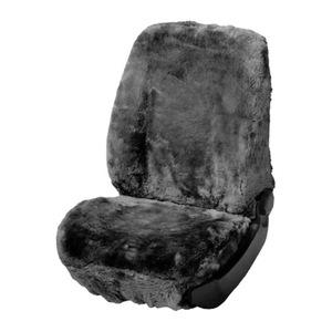 Walser Autositzbezug aus Lammfell, grau