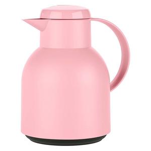 emsa Isolierkanne Samba 1 Liter, Einhandbedienung, Farbe Rosa