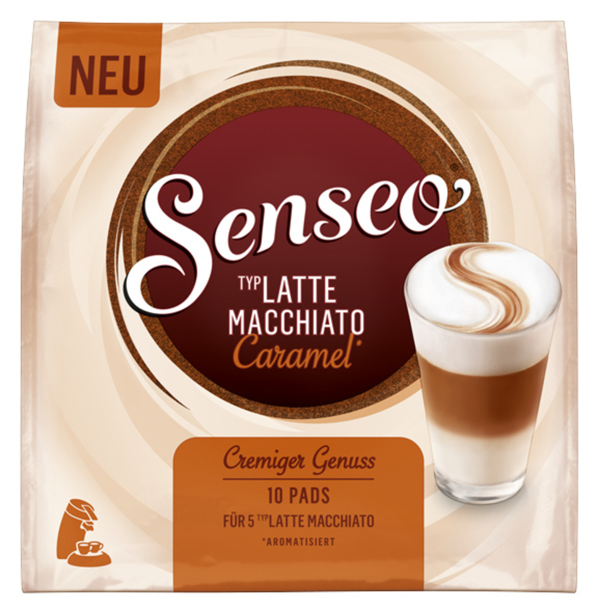 Bild 1 von Senseo Typ Latte Macchiato Caramel | 10 Pads für 5 Latte Macchiato