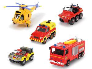 DICKIE Feuerwehrmann Sam Fahrzeuge 5er Pack