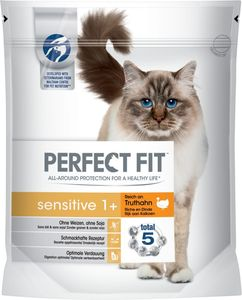 Perfect Fit Katze Sensitive 1+ Reich an Truthahn 750g