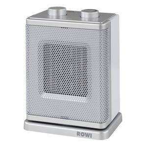 ROWI                 Keramik-Heizlüfter, 1500 Watt, silber