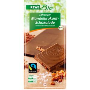 REWE Bio Schweizer Mandelkrokant-Schokolade 100g
