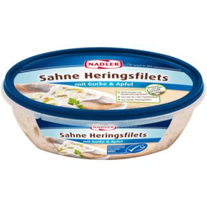 Nadler Sahne-Heringsfilets mit Gurke & Apfel 170g