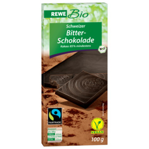 REWE Bio Bitterschokolade 85% 100g