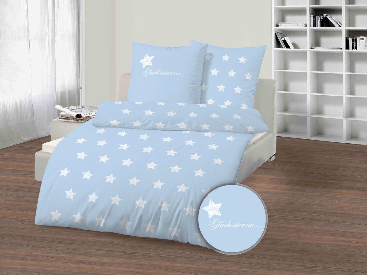 Bild 1 von Dobnig Biberbettwäsche Winter-Traum Sterne hellblau