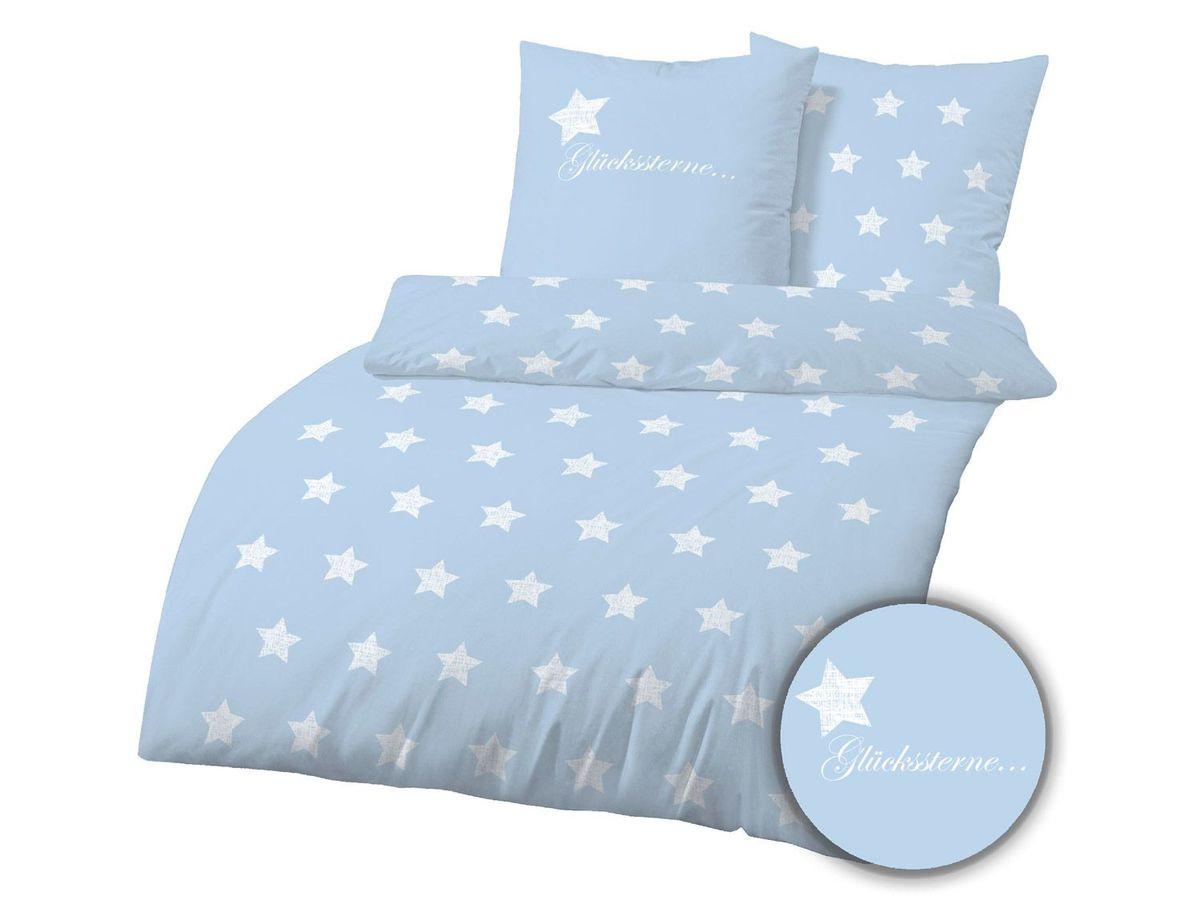 Bild 2 von Dobnig Biberbettwäsche Winter-Traum Sterne hellblau