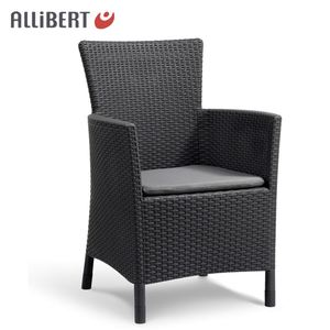 Allibert Dining Chair Iowa Graphit mit Sitzkissen