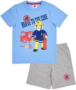Kinder Shorty - Feuerwehrmann Sam blau/ grau melange Gr. 122/128