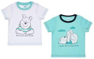Winnie the Pooh Baby Shirt -  Jungen: weiß türkis Gr. 80/86