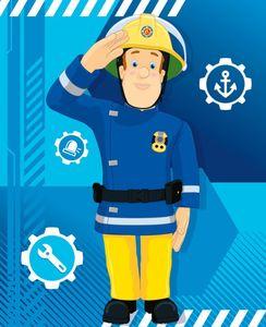 Kinder Fleecedecke - Feuerwehrmann Sam - blau
