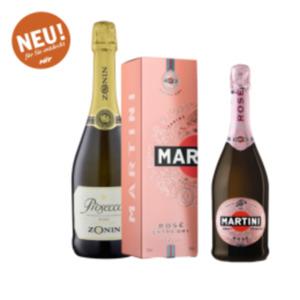 Martini Spumante Rosé Extra Dry oder Zonin Prosecco Spumante Brut