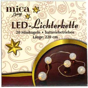 20er LED-Lichterkette - Kugeln - 220 cm
