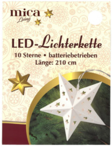 10er LED-Lichterkette - Sterne - 210 cm