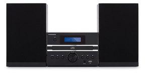 Thomson MIC120BT, Heim-Audio-Mikrosystem, Schwarz, Einfarbig, 1 Disks, 20 W, 2-Wege