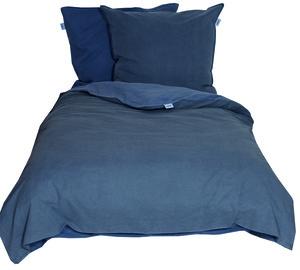 Schöner Wohnen Bettwäsche, Pina-B, 135x200cm, 2-farbig, dunkelblau