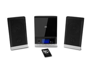 MEDION® LIFE® E64704 Micro-Audio-System mit CD-Player UKW/MW Stereo Radio, Weckfunktion, 30 Senderspreicher, LC-Display mit blauer Hintergrundbeleuchtung, 2 x 25 Watt