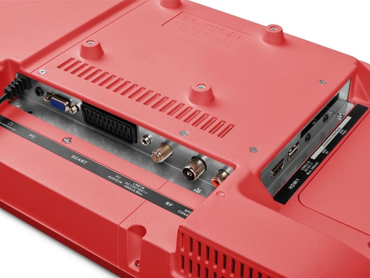 Bild 2 von Medion Full HD LED 55cm (21,5 Zoll) P13500, HD Triple Tuner, Rot