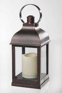 Laterne mit LED Kerze und Flackereffekt Wetekom