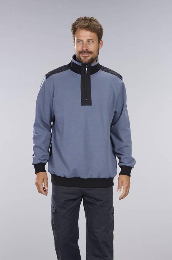 Sweatshirt mit Reißverschluß, Farbe denim blau