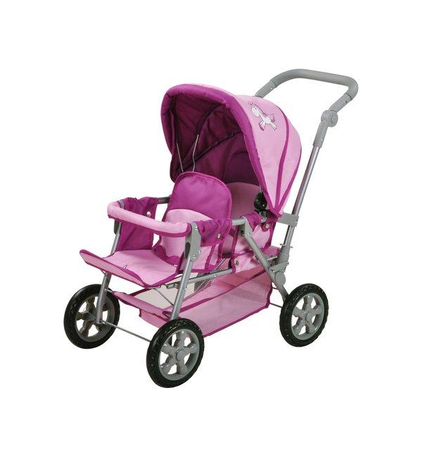 knorr toys Puppen-Zwillingswagen Einhorn