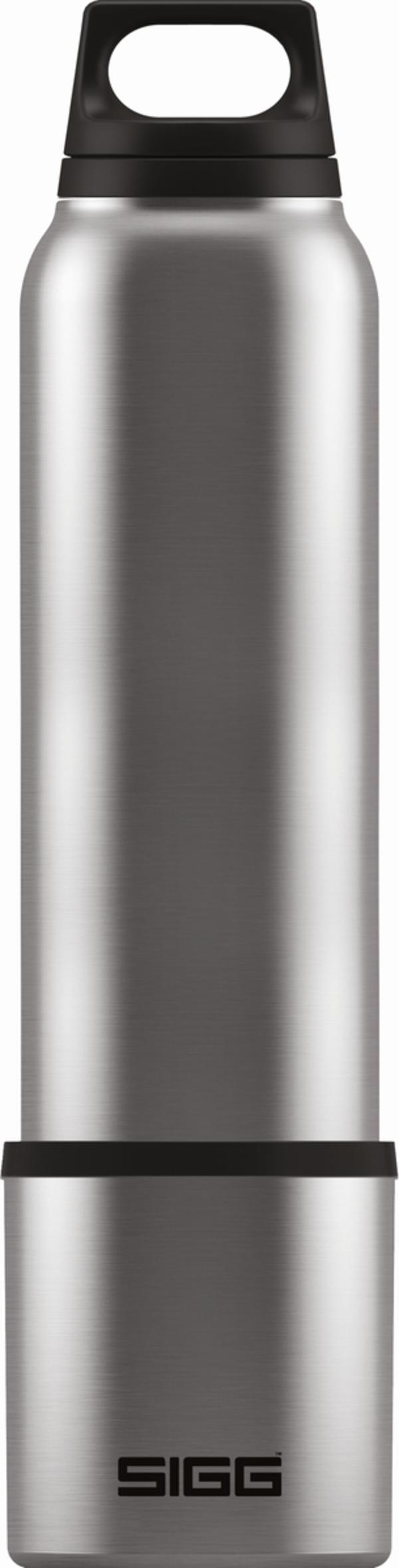 SIGG Trinkflasche Hot & Cold Brushed mit Cup 1l