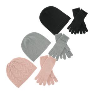 Mütze und Handschuhe mit Kaschmir