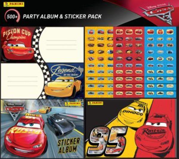 PANINI Mega-Party-Stickerset Cars, über 500 Teile