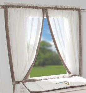 Vorhang Eule taupe, 100 x 240 cm Gr. 240 x 100