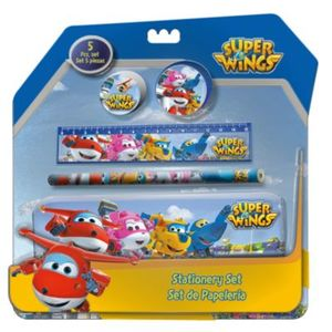 Schreibset Super Wings inkl. Stiftedose, 5-tlg.