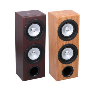 Wireless Stereo-Lautsprecher in Holz-Optik, ca. 39x12x14cm