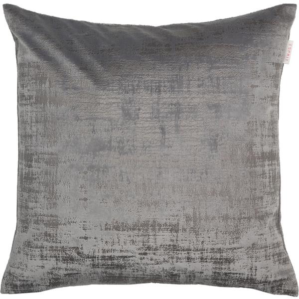 ESPRIT Stratch Samt-Kissenhülle 38 x 38 cm, Farbe Grau