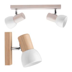 LIGHTZONE     Holz Wand- / Deckenleuchte