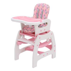 HOMCOM 3 in 1 Kinderhochstuhl Multifunktion | Kombihochstuhl Multifunktion Stuhl Babyhochstuhl Schaukel