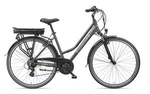 Zündapp Trekking E-Bike Green 4.5, Damen, 28 Zoll, 21 Gang Shimano Schaltung, Schwarz