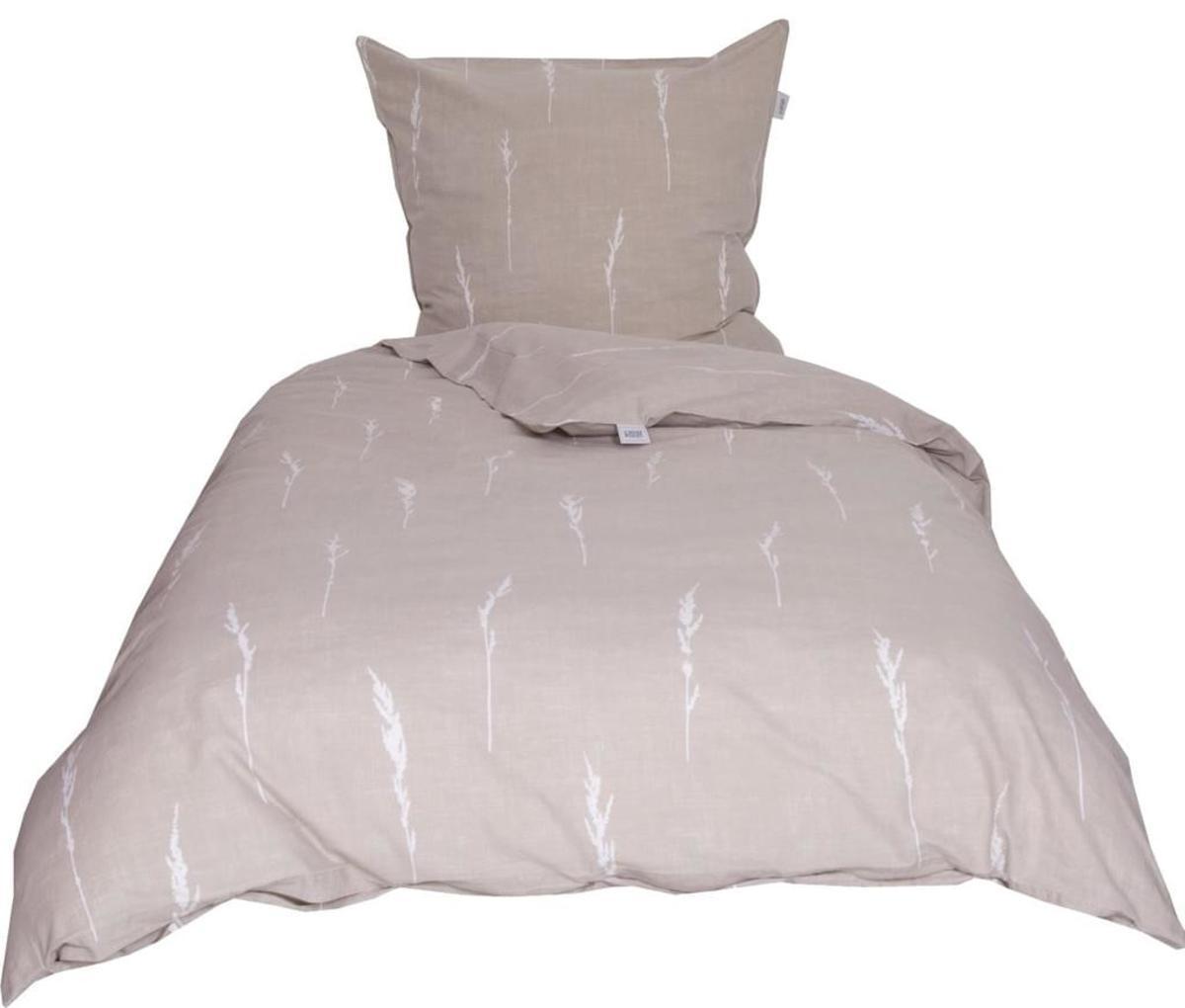 Bild 5 von Schöner Wohnen Bettwäsche, Gras-B, 135x200cm, beige