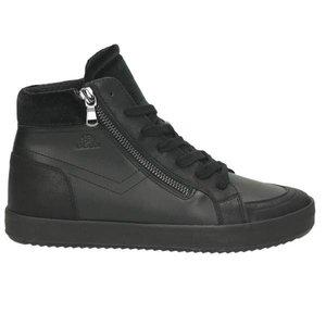 Damen High Top Sneaker, schwarz
