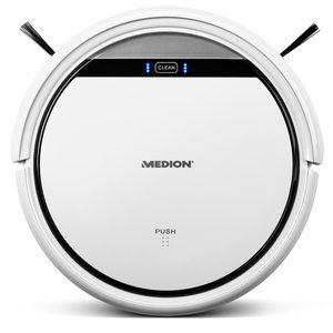 MEDION Saugroboter MD 18500, vollautomatische Reinigung, bis zu 90 Min Laufzeit, selbstständige Ladefunktion, für eine Vielzahl von Böden, Timer-Funktion