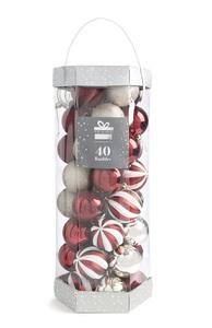 Rote Baumkugeln, 40 Stück