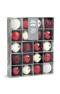 Rote Baumkugeln, 20 Stück