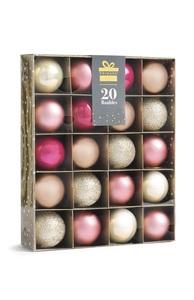 Rosafarbene Baumkugeln, 20 Stück